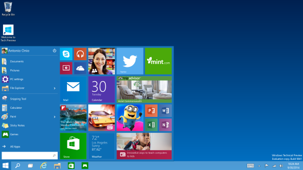 Windows 10 Preestreno