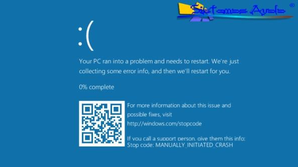 """La nueva versión de """"La pantalla azul de la muerte"""" [ BSOD ] te envia a una página web que ofrecerá al usuario información precisa sobre su error cuando se produzca una falla en el sistema operativo."""