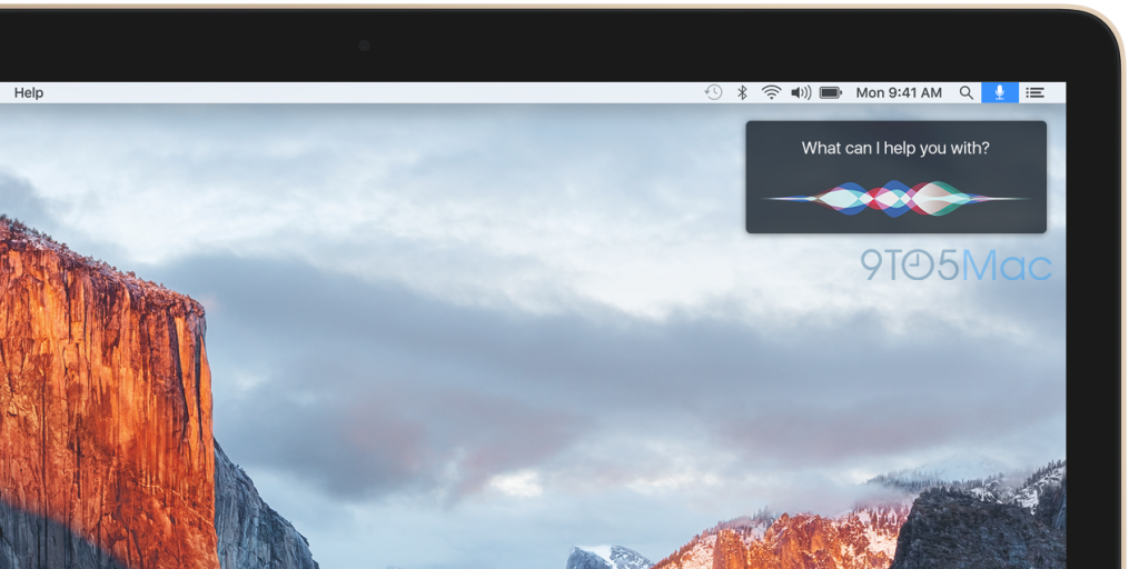 Mac mostrando cómo podría ser Siri para Mac en OS X 10.12