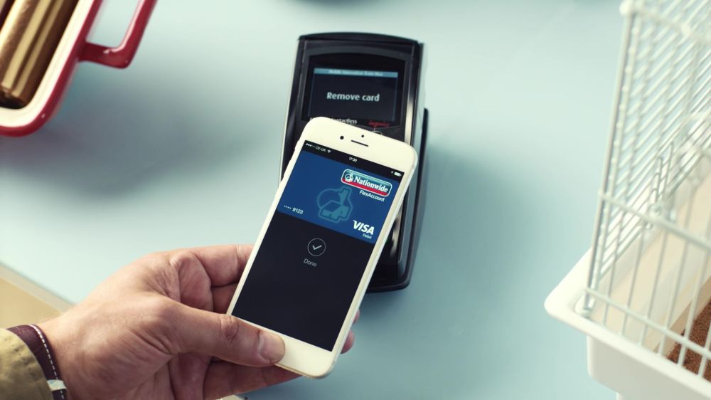 Apple Pay en un iPhone